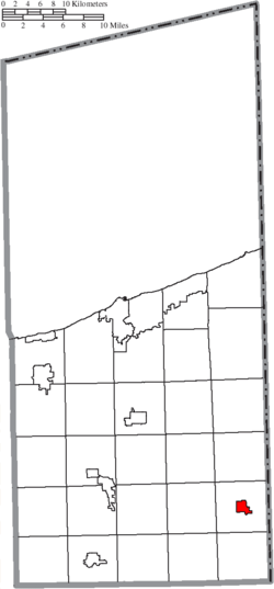 Location of Andover in Ashtabula County