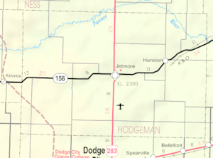 Map of Hodgeman Co, Ks, USA