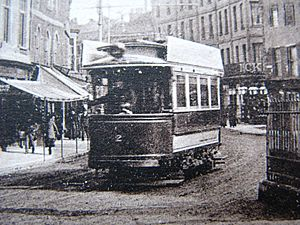 Taunton single deck tramcar 2 in Fore Street