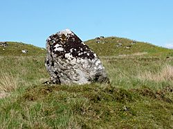 The Broken Heart Stone, Rannoch Moor, Perth & Kinross, Scotland. View from the west.jpg