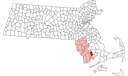 Location in Bristol County in Massachusetts