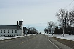 Looking south in downtown Angelica