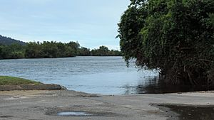 Boat ramp into the Russell River, Ross Road, Deeral, 2018