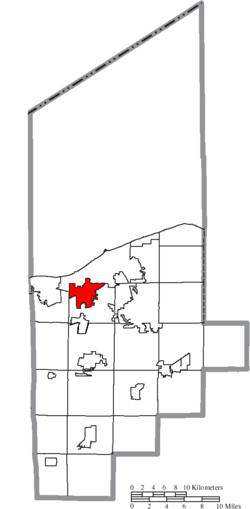 Location of Amherst in Lorain County