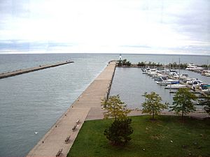 Rrl top floor view lake ontario and marina