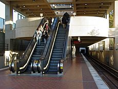 Suitland station showing mezzanine