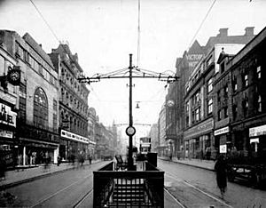 Trams on Briggate
