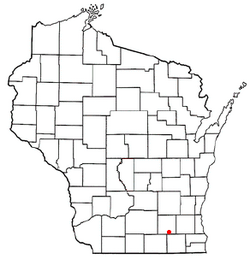 Location of Whitewater, Wisconsin