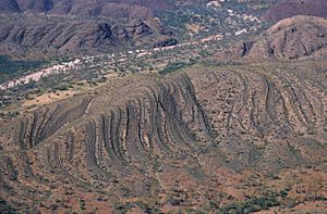 CSIRO ScienceImage 1217 Aerial view of Central Australian landscape
