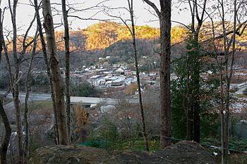 City of Whitesburg Overlook from Town Hill Trail