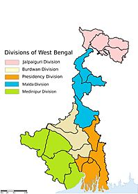 Division Of West Bangal Map