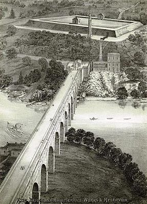 High Bridge and high service works & reservoir