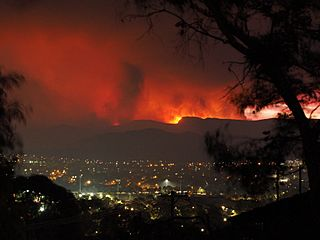 Orroral Valley Fire viewed from Tuggeranong January 2020