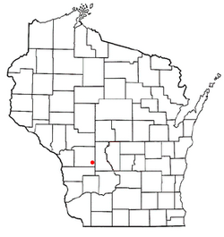 Location of Glendale, Monroe County, Wisconsin