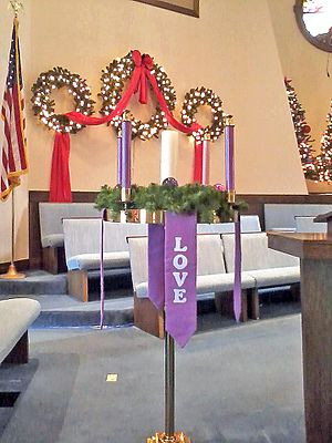 Advent Wreath (Broadway United Methodist Church)