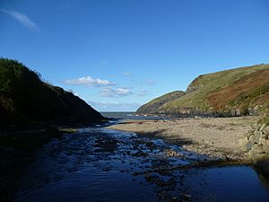 Ceibwr Cove and former harbour - Tony Holkham - 27 Oct 2012