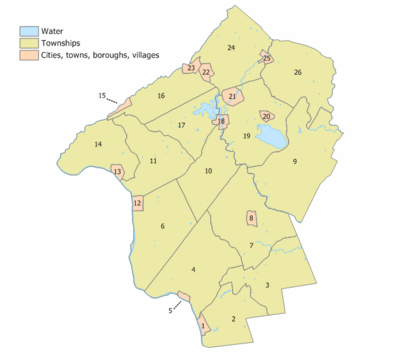 Hunterdon County, New Jersey Municipalities