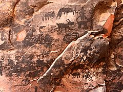 Palatki cave pictographs 1