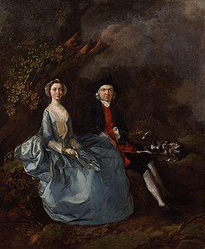 Sarah Kirby (née Bull); John Joshua Kirby by Thomas Gainsborough