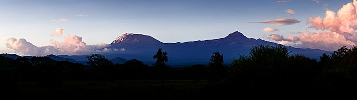 The Kibo and Mawenzi Cones of Mt. Kilimanjaro