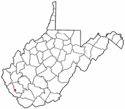 Location of Mallory, West Virginia