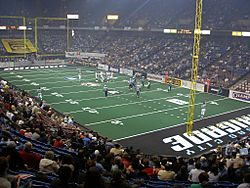 Arena football Kansas City wide shot