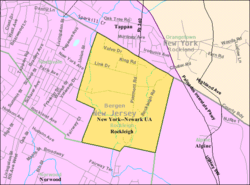 Census Bureau map of Rockleigh, New Jersey