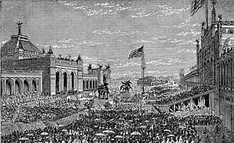 Centennial Exhibition, Opening Day