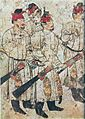 Figures in a cortege, tomb of Li Xian, Tang Dynasty