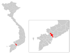 Location in Vietnam and Southern Vietnam