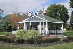 Malta Corners, US Route 9 and NY Route 67, Gazebo in 2013