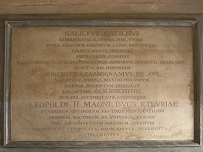 Plaque galileo