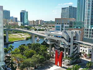 Riverwalk Metromover station Downtown Miami