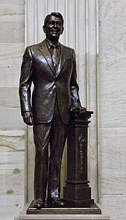 Ronald Reagan statue in rotunda