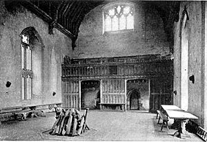 The Hall at Penshurst Place from Ancestral Homes of Noted Americans by Anne Hollingsworth Wharton (1915)