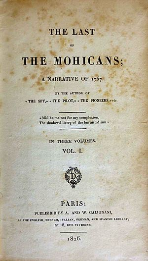 The Last of the Mohicans 1826