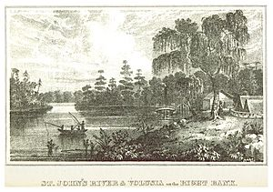 WILLIAMS(1837) Florida - ST.JOHN's RIVER & VOLUSIA on the right bank