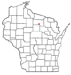 Location of Crescent, Wisconsin