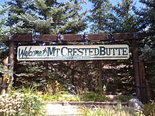 Welcome to Mt. Crested Butte, elevation 9,375 feet (2,858 m)