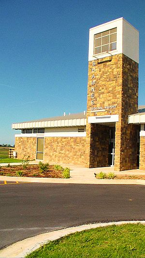 Airport Terminal for Shawnee Municipal Airport in Shawnee, Oklahoma