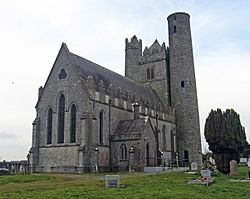 Church of Ireland and round tower at Lusk