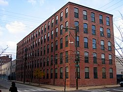 Beatty's Mills Factory Building, a historic textile mill which now houses the Coral Street Arts House.