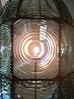 Fire Island Light, the original Fresnel lens