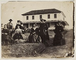 Rouse family and others, Rouse Hill House, 1859 - photographer Major Thomas Wingate (7778465508)