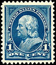 Benjamin Franklin2 1895 Issue-1c