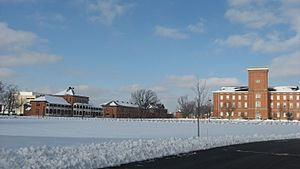 Fort Hayes parade grounds in the snow
