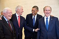 Four U.S. presidents in 2013