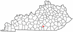 Location of Jamestown, Kentucky