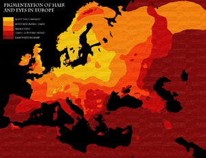 Map pigmentation in Europe