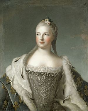 Marie-Josèphe de Saxe, dauphine (18th century) by an unknown artist after Jean-Marc Nattier.jpg